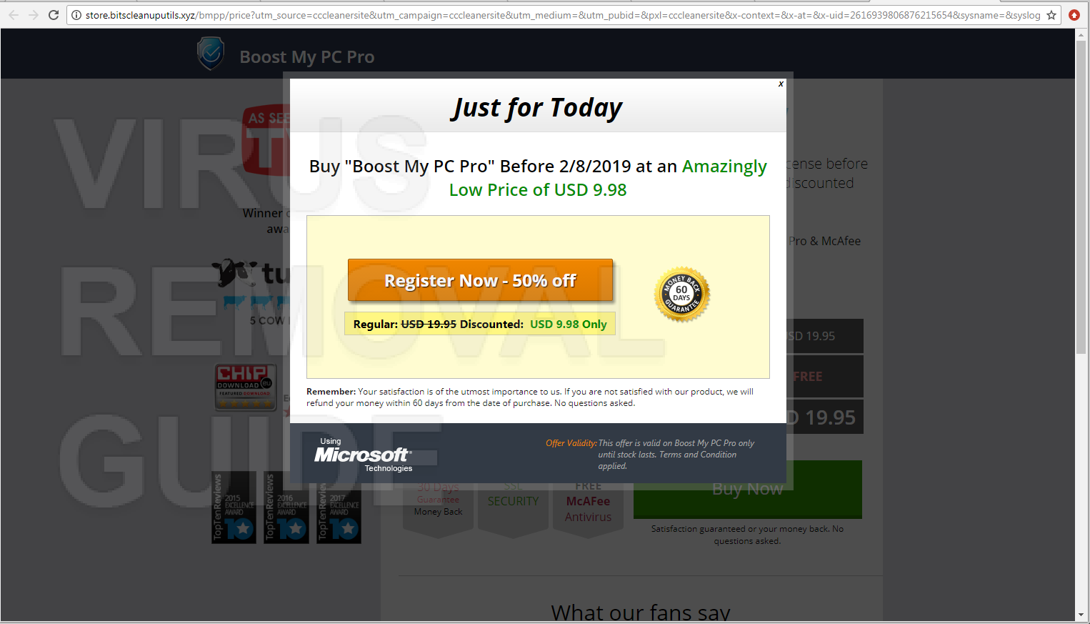 Boost My PC Pro adware