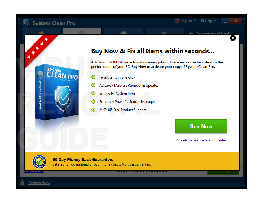 System Clean Pro adware