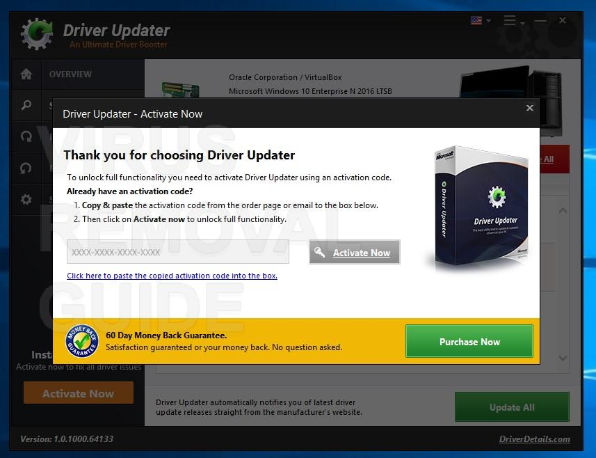 Driver Updater adware