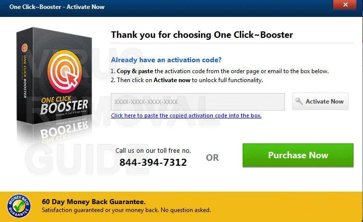 One Click Booster adware