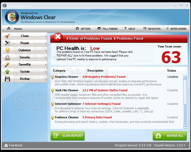 Windows Clear