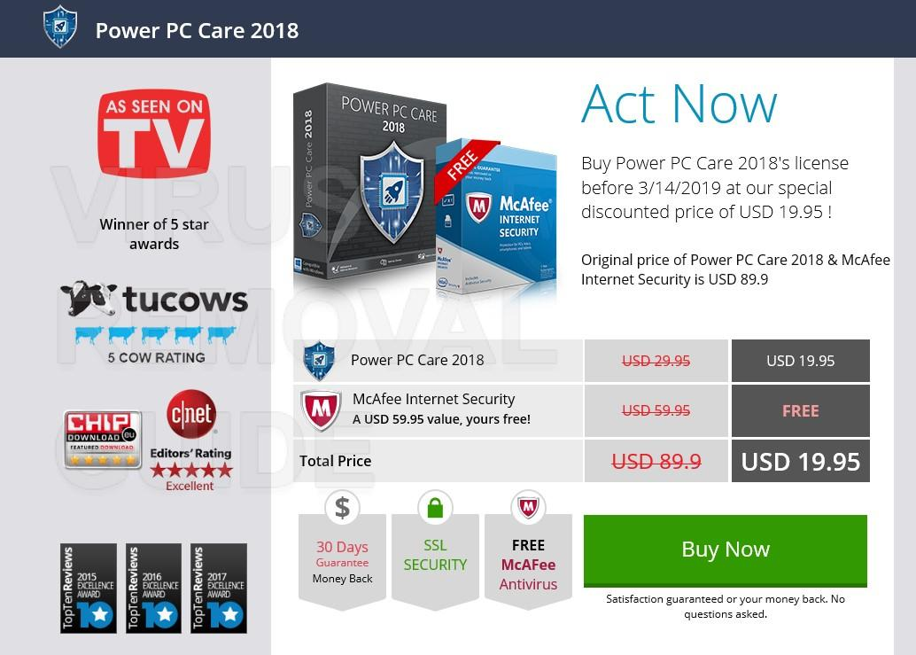 Power PC Care 2018 adware