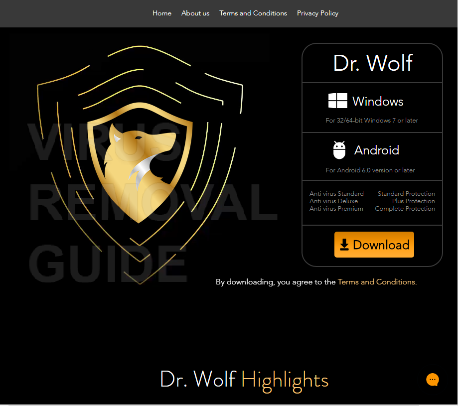 Dr. Wolf Internet Security adware
